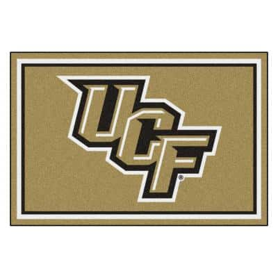 NCAA - University of Central Florida Gold 8 ft. x 5 ft. Indoor Area Rug