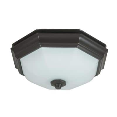 Huntley Decorative Oil-Rubbed Bronze 80 CFM Ceiling Installation Bathroom Exhaust Fan with Light and LED Bulbs Included