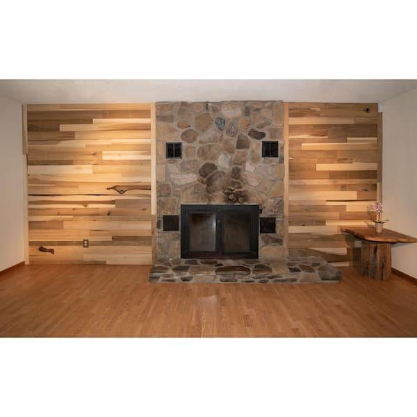 BARNLINE 5/16 in. x 46 in. Multi-Width Multi-Color Wood Kiln Dried Mineral Poplar Kit Planks (10 sq. ft.) | The Home Depot