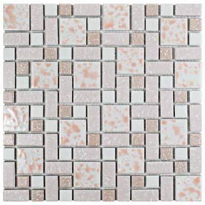 University Pink 11-3/4 in. x 11-3/4 in. x 5 mm Porcelain Mosaic Tile (9.8 sq. ft. / case)
