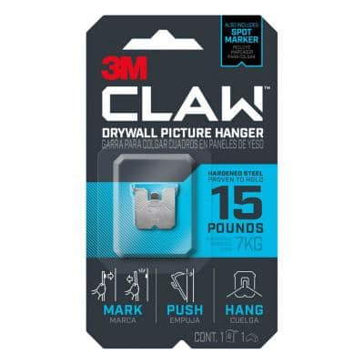 CLAW 15 lbs. Drywall Picture Hanger with Spot Marker