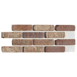 Brickwebb Castle Gate Thin Brick Sheets - Flats (Box of 5 Sheets) - 28 in. x 10.5 in. (8.7 sq. ft.)