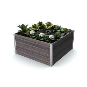 Urbana 48 in. x 48 in. x 22 in. Espresso Brown Vinyl Raised Composting Garden