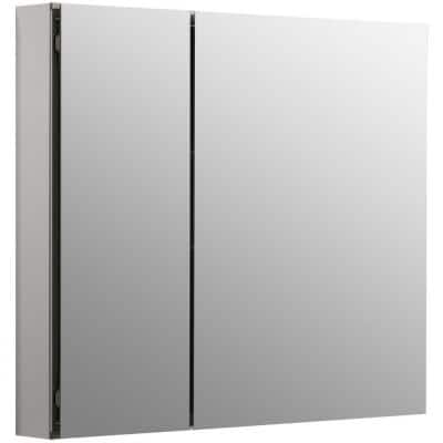 CLC 30 in. x 26 in. Recessed/Surface Mount Soft Close Medicine Cabinet with Mirrored Door