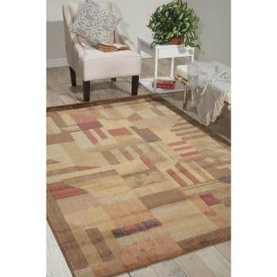 Somerset Multicolor 8 ft. x 11 ft. Abstract Art Deco Area Rug