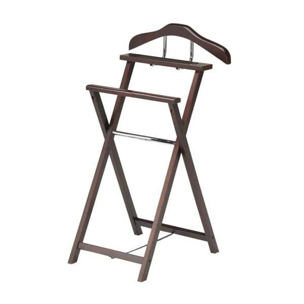 Kings Brand Furniture Walnut Metal Clothes Rack 18 In W X 38 In H 4924 Hc The Home Depot