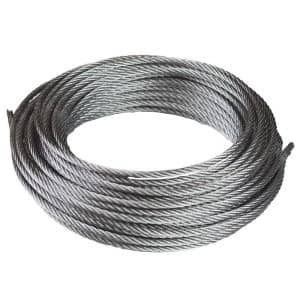 1/8 in. x 50 ft. Galvanized Uncoated Steel Wire Rope