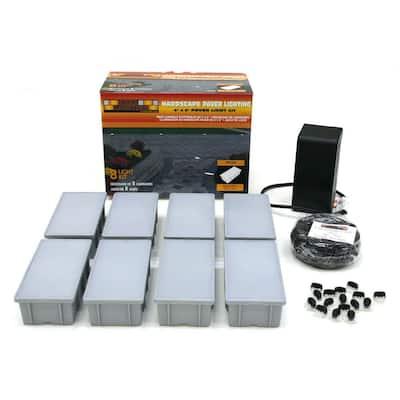 8-Light Outdoor Paver Light Kit