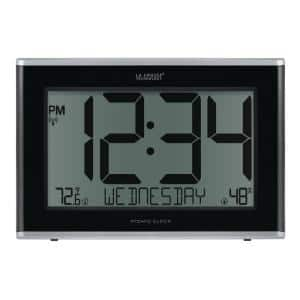 Extra-Large Atomic Digital Clock with Indoor Temperature and Humidity