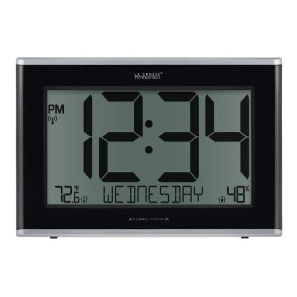 La Crosse Technology Extra Large Atomic, Atomic Wall Clock With Indoor Outdoor Temperature And Humidity
