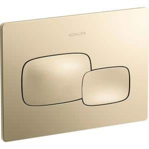 Cue Flush Actuator Plate for 2 in. x 4 in. In-Wall Tank and Carrier System, Vibrant French Gold