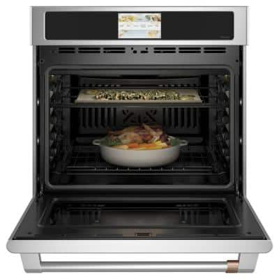 30 in. Smart Single Electric Wall Oven with Convection Self-Cleaning in Stainless Steel