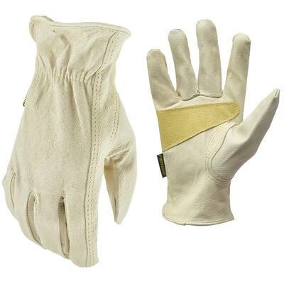 Medium Grain Pigskin Leather Work Gloves