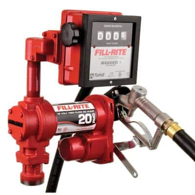 12-Volt 20 GPM 1/4 HP Fuel Transfer Pump (Mechanical Meter Package)