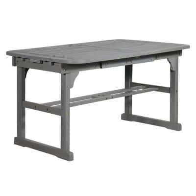 Boardwalk Grey Wash Acacia Wood Extendable Outdoor Dining Table