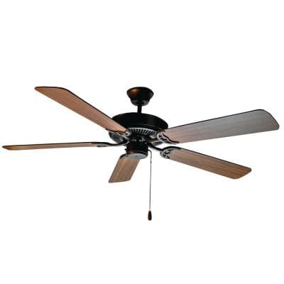 Basic-Max 52 in. Indoor Oil Rubbed Bronze Ceiling Fan