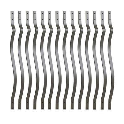 32-1/4 in. x 1 in. Black Aluminum Contour Baluster (14-Pack)