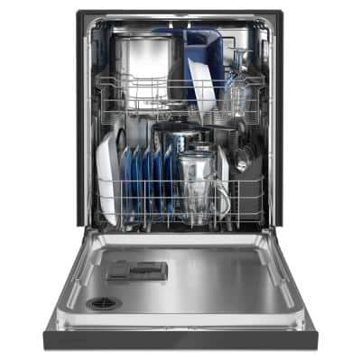 24 in. Fingerprint Resistant Stainless Front Control Built-In Tall Tub Dishwasher with Dual Power Filtration, 50 dBA