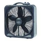 20 in. Weather-Shield Select 3-Speed Box Fan with Thermostat