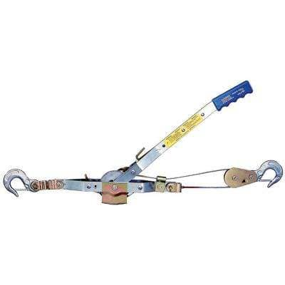 4,000 lb. 2-Ton Capacity 6 ft. Max Lift 30:1 Leverage Winch Puller Come Along Tool with 6 ft. of Cable Included