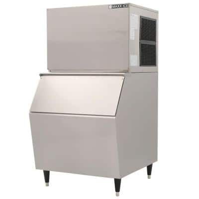 600 lb. Freestanding Icemaker in Stainless Steel