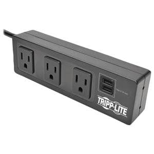 Protect It 3-Outlet with 2 USB Ports and Desk Clamp Surge Protector