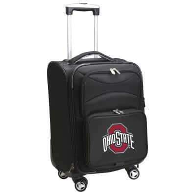NCAA Ohio State Black 21 in. Carry-On Spinner Softside Suitcase