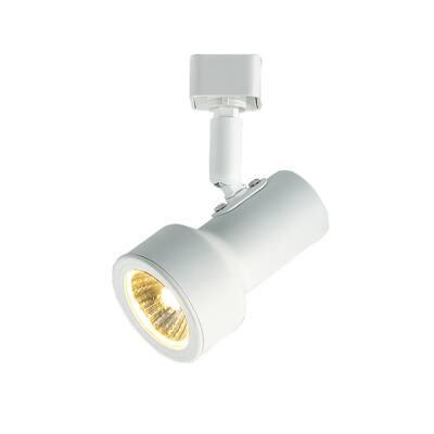 1-Light White Mini-Step Linear Track Lighting Head