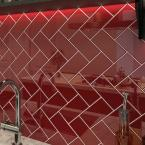 Ruby Red 3 in. x 6 in. x 8 mm Glass Subway Wall Tile (5 sq. ft./case)