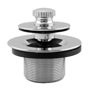 1-3/8 in. NPSM Fine Thread Twist-and-Close Bath Drain Plug in Chrome