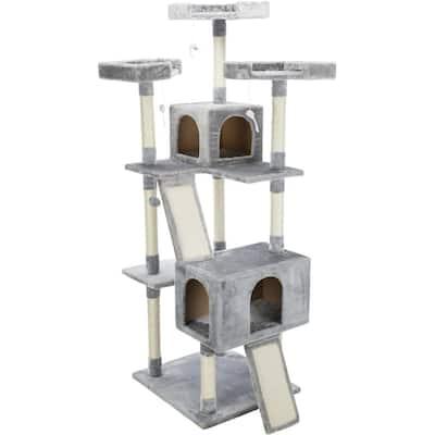 X-Large Gray Celeste Cat Tower