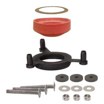 Universal Tank-to-Bowl Toilet Gasket System with Bolts