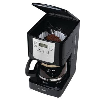 5-Cup Black Digital Coffee Maker with Glass Carafe