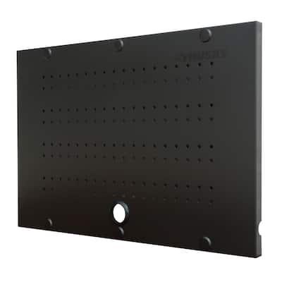 24 in. W x 16 in. H Steel Pegboard Set in Black (2-Pack) for Regular Duty Welded Steel Garage Storage System