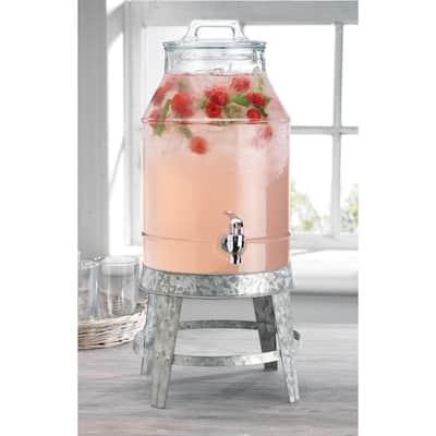 3 Gal. Beverage Dispenser with Galvanized Base