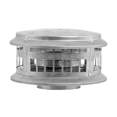5 in. x 11 in. Type B Gas Vent Dura Cap for Chimney Pipe