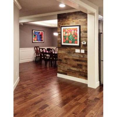 Reclaimed Barn Wood Brown Sealed 3/8 in. T x 3.5 in. W x Varying Length Solid Hardwood Wall Plank (20 sq. ft. / case)