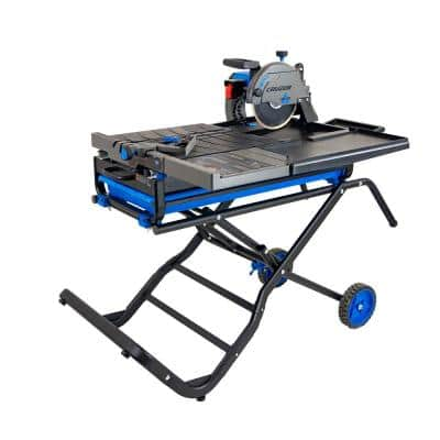 Cruzer 10 in. Wet Tile Saw with Folding Portable Stand