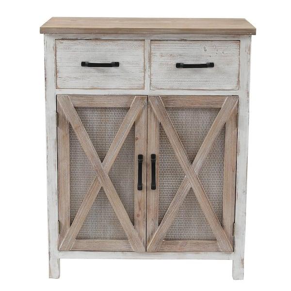 H Rustic Wood Barn Door Storage Cabinet, Rustic Storage Cabinets