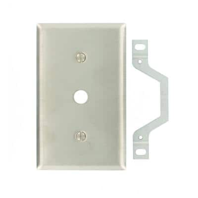 Stainless Steel 1-Gang Phone Jack Wall Plate (1-Pack)