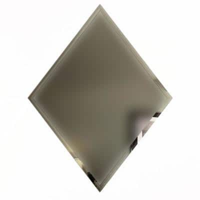 Reflections Frosted Gold Beveled Diamond 6 in. x 8 in. Matte Glass Mirror Wall Tile (16 sq. ft./Case)