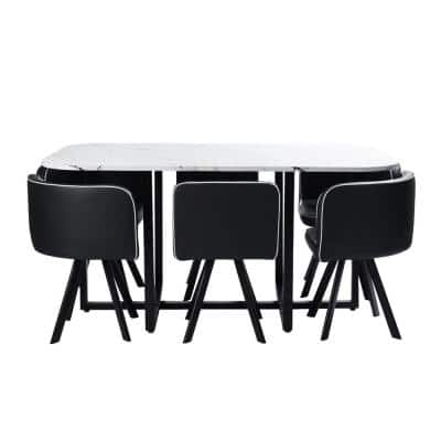 Faux Leather Dining Room Sets Kitchen Furniture The Home Depot