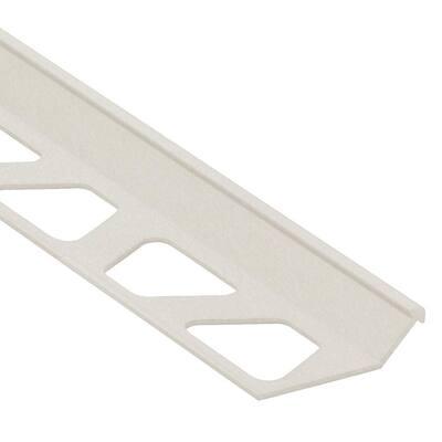 Finec Ivory Textured Aluminum 9/32 in. x 8 ft. 2-1/2 in. Metal Tile Edging Trim