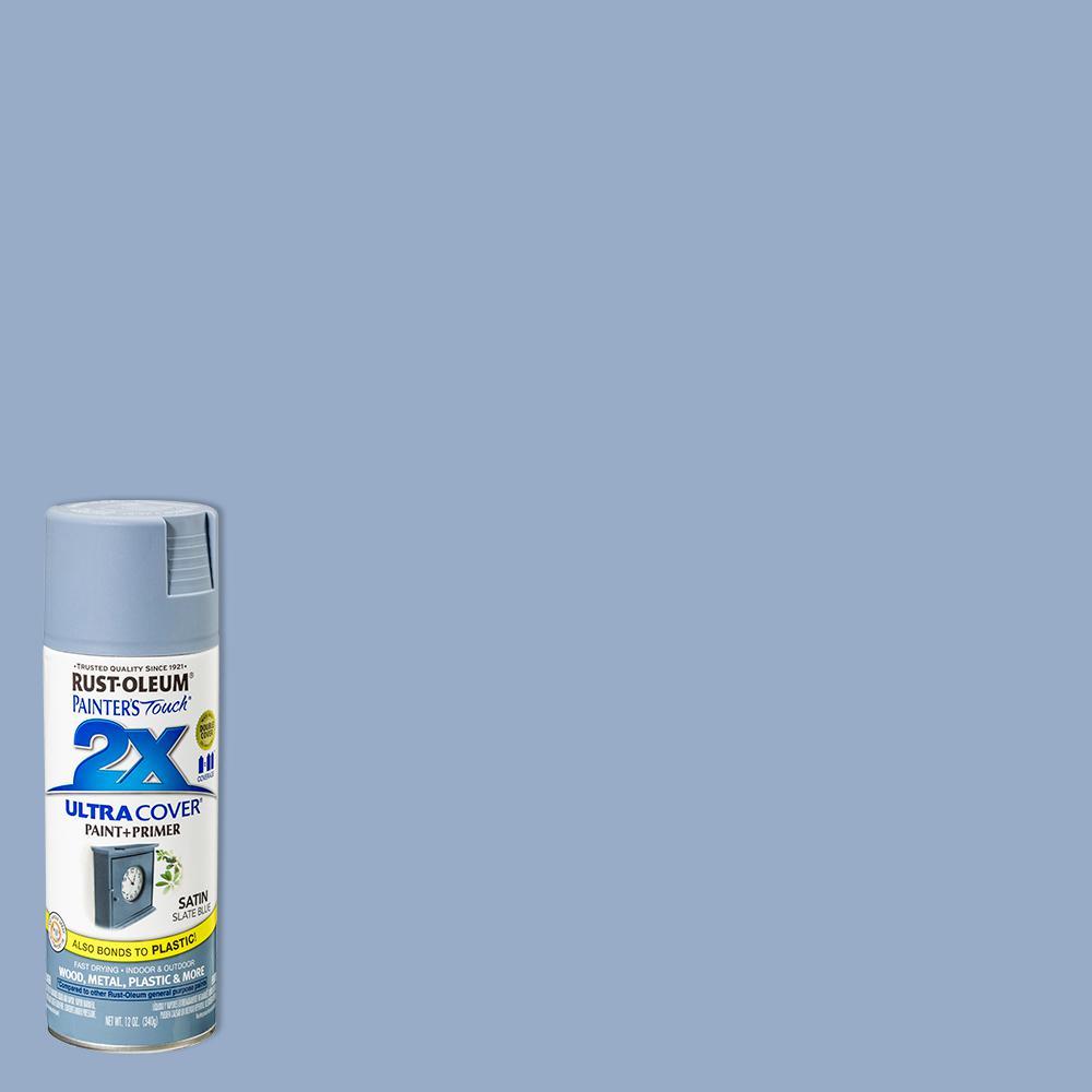 12 oz. Satin Slate Blue General Purpose Spray Paint (6-Pack)