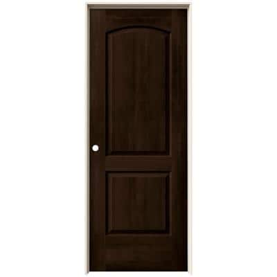 30 in. x 80 in. Continental Espresso Stain Right-Hand Molded Composite MDF Single Prehung Interior Door
