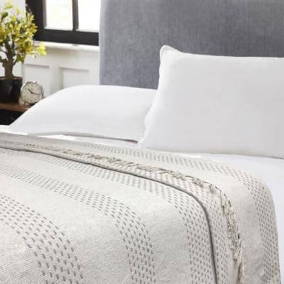 Luxe Cotton Taupe Blanket Full/Queen