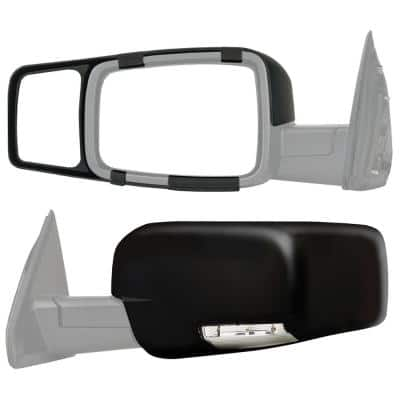 Clip-on Towing Mirror Set for 2009 - 2014 Dodge Ram 1500; 2010 - 2014 2500/3500