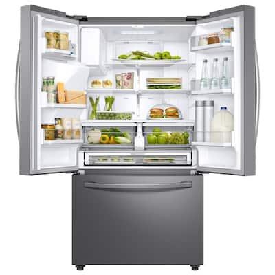 23 cu. ft. 3-Door French Door Refrigerator in Stainless Steel with CoolSelect Pantry, Counter Depth