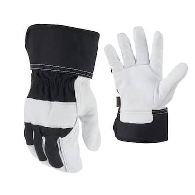 Large Goatskin Leather Work Gloves