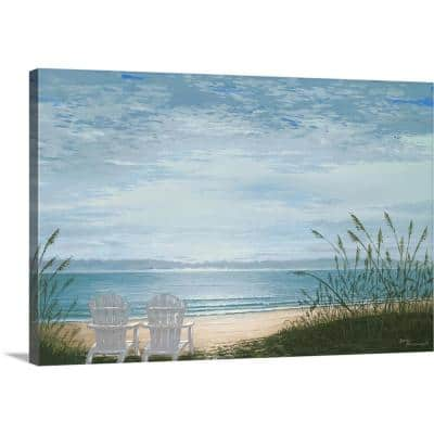 """Beach Chairs"" by Bruce Nawrocke Canvas Wall Art"